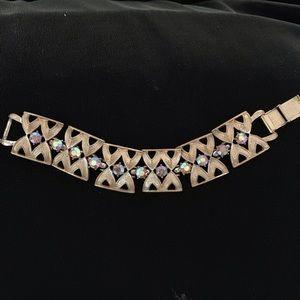 Jewelry - Coro Pegasus Aurora Borealis Gold Bracelet